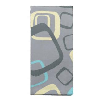 Gris y amarillo retros servilleta de papel