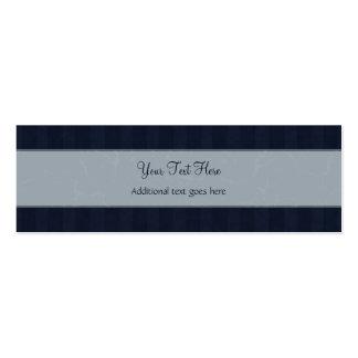 Gris y briznas y rayas florales de la marina de gu plantilla de tarjeta personal