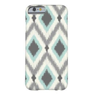 Gris y menta Ikat tribal Chevron Funda Para iPhone 6 Barely There
