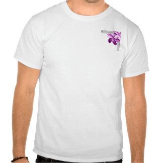 Gris y Plumeria de la berenjena Camiseta