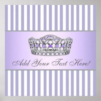 Gris y princesa púrpura Poster de la lavanda