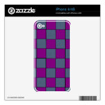 Gris y púrpura iPhone 4S skin