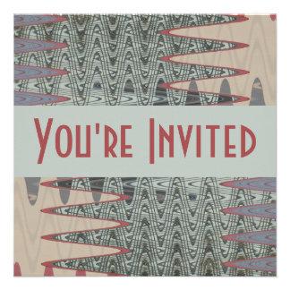 gris y rosa invitacion personalizada
