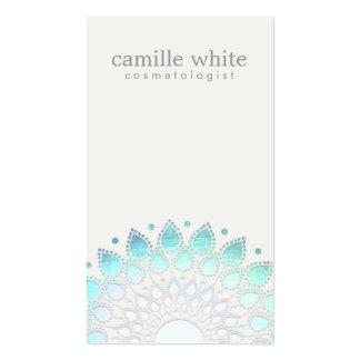 Grisáceo azul claro del círculo elegante de la cos tarjetas de visita
