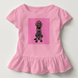 Grisáceo brillante en rosa remera
