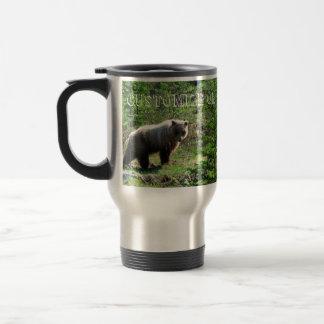 Grisáceo en el bosque; Personalizable Taza De Viaje