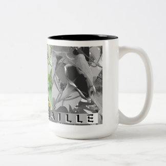 Grisaille Art of Morning Glories Two-Tone Coffee Mug