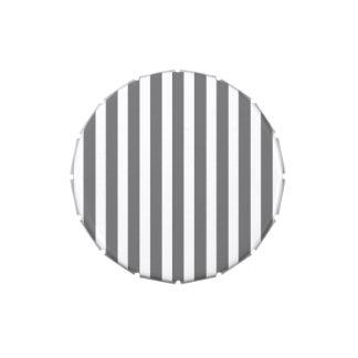 Grises carbones y rayas blancas de la cabaña jarrones de caramelos