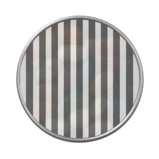 Grises carbones y rayas blancas de la cabaña latas de dulces