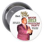 Grises de Mike para el alcalde 2013 de NYC Pin