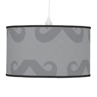 Grises del bigote lámpara de techo