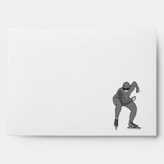 grises del gráfico del patinador de la velocidad