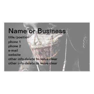 Grisly Retrospection Double-Sided Standard Business Cards (Pack Of 100)