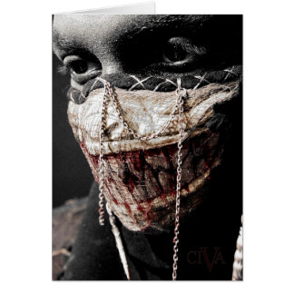 Grisly Retrospection Greeting Card