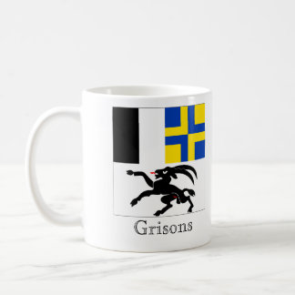 Grisons, banderas de Suisse Drapeau Tazas