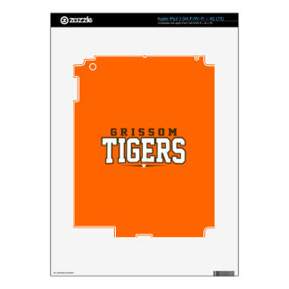 Grissom High School; Tigers Decals For iPad 3