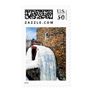Grist Mill in Winter Postage
