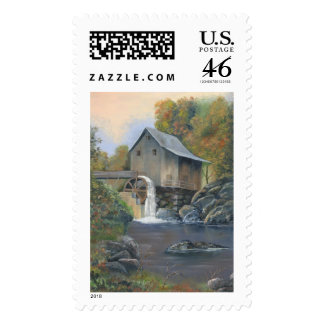 Grist Mill Postage Stamp