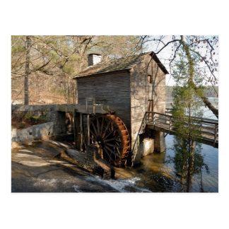 Grist Mill Stone Mountain Georgia Postcard