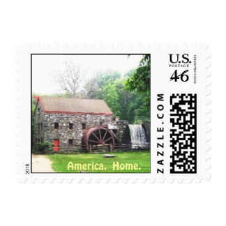 grist mill sudbury MA Postage Stamp