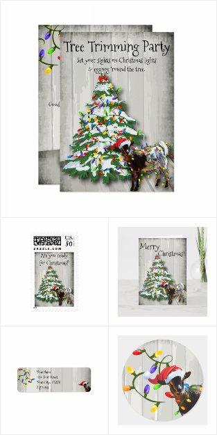 Griswold Christmas Goat and Christmas Lights
