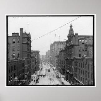 Griswold Street , Detroit Michigan circa 1906 Print