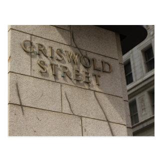 Griswold Street, Downtown Detroit, Michigan Postcard