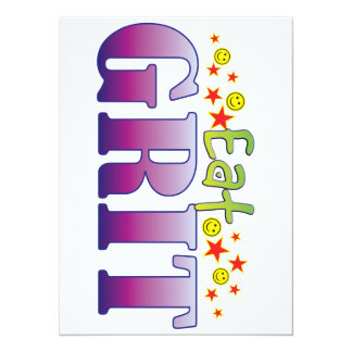 Grit Eat 5.5x7.5 Paper Invitation Card