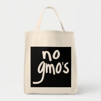 Grita ningún GMO protege nuestra comida en negro Bolsas De Mano