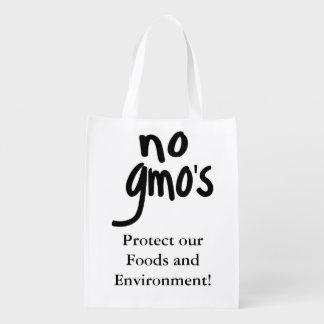 Grita ningún GMO protege nuestra comida Bolsas Reutilizables