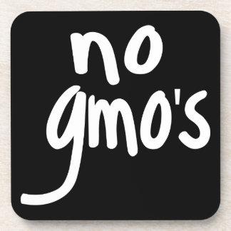Grita ningún GMO protege nuestro negro de la Posavasos De Bebida