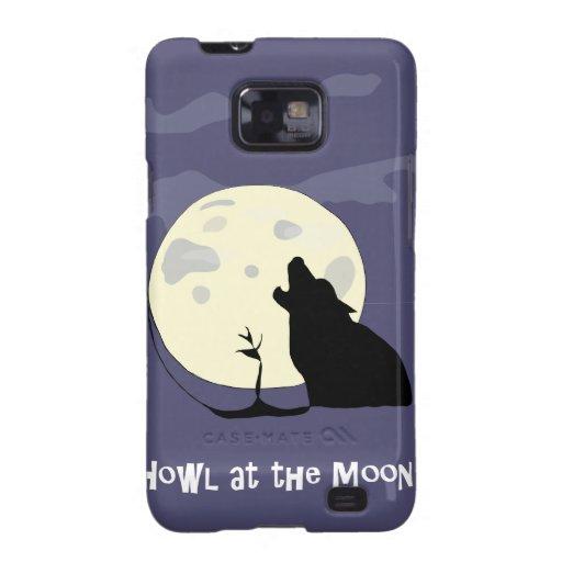 Grite en la pata del perro/del lobo de la luna de  samsung galaxy SII carcasa