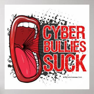 Grítelo que los matones cibernéticos chupan póster
