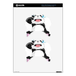Griterío de la panda mando xbox 360 calcomanía