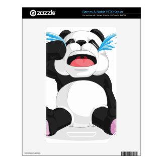 Griterío de la panda calcomanía para NOOK color