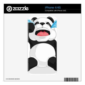 Griterío de la panda iPhone 4 calcomanías