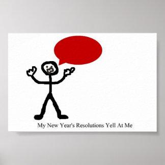 Griterío de la resolución del Año Nuevo Poster