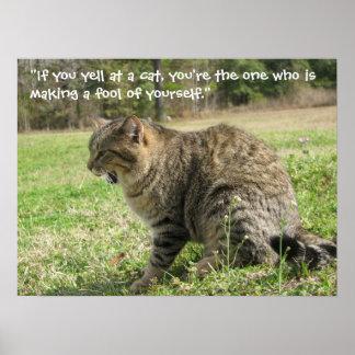 Griterío en un gato póster