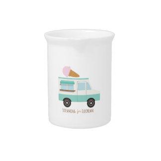 Griterío para el helado jarra de beber