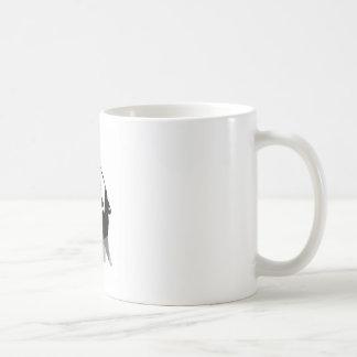 Griterío para la ayuda taza básica blanca