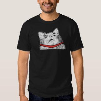 Grito de asombro sorprendido Meme - camiseta negra Poleras