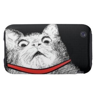 Grito de asombro sorprendido Meme - caso del gato  iPhone 3 Tough Carcasas