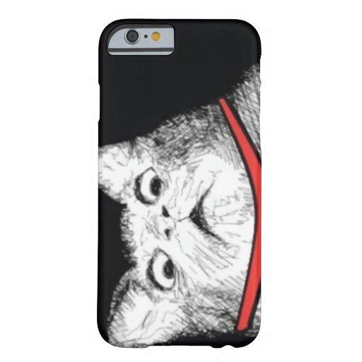 Grito de asombro sorprendido Meme - caso del gato Funda De iPhone 6 Barely There