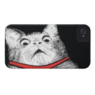 Grito de asombro sorprendido Meme - caso del gato Funda Para iPhone 4