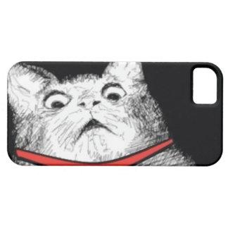 Grito de asombro sorprendido Meme - caso del gato Funda Para iPhone SE/5/5s
