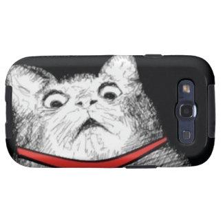 Grito de asombro sorprendido Meme del gato - caja  Galaxy S3 Carcasa