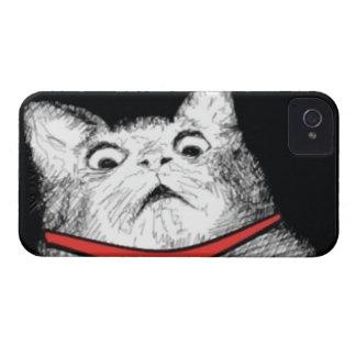 Grito de asombro sorprendido Meme del gato - caja  iPhone 4 Case-Mate Fundas