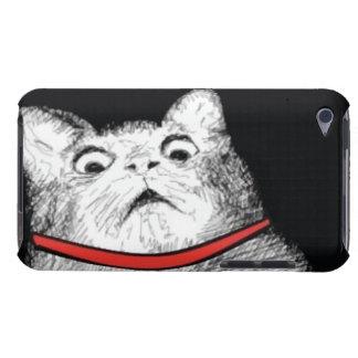 Grito de asombro sorprendido Meme del gato - caso Funda Para iPod De Case-Mate