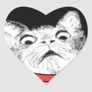 Grito de asombro sorprendido Meme - pegatinas del Pegatina En Forma De Corazón