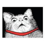 Grito de asombro sorprendido Meme - postal del gat